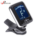 Mini Clip-on Clip on LCD Display Guitar Tuner Backlight 360 Degree Rotatable Clip Tuner for Guitar Chromatic Bass Violin Ukulele