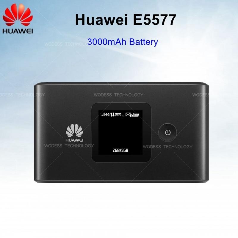 ปลดล็อก 4G LTE Mobile WiFi hotspot แบบพกพาเราเตอร์ไร้สาย 3000 mAh แบตเตอรี่ Huawei E5577-ใน เราเตอร์ 3G/4G จาก คอมพิวเตอร์และออฟฟิศ บน AliExpress - 11.11_สิบเอ็ด สิบเอ็ดวันคนโสด 1