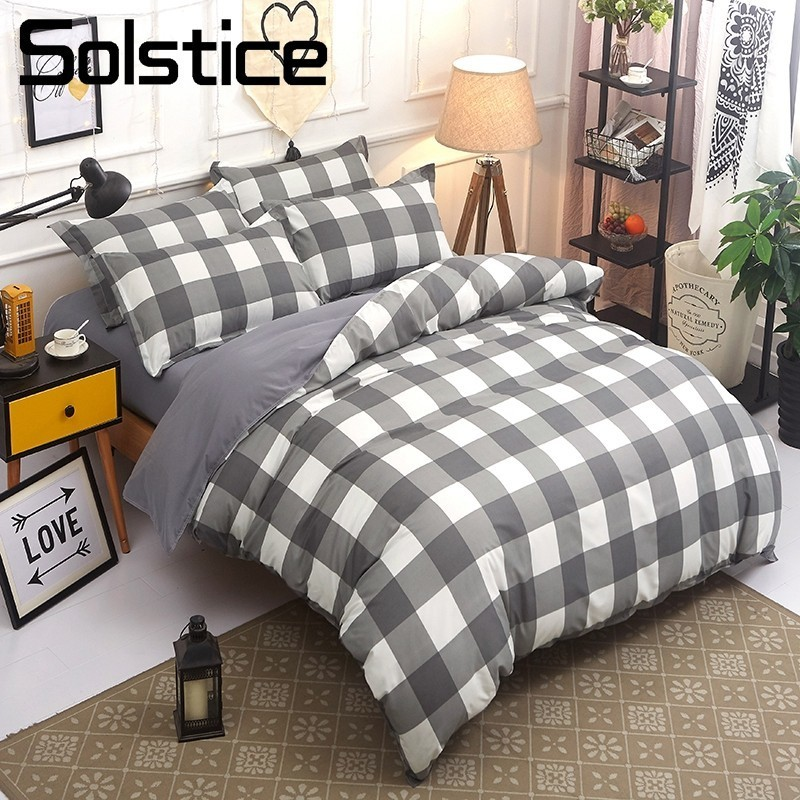 Solstice Pillowcases Quilt-Cover Duvet Twin-Bedding-Sets Queen Linen Flat-Sheet Textile-King