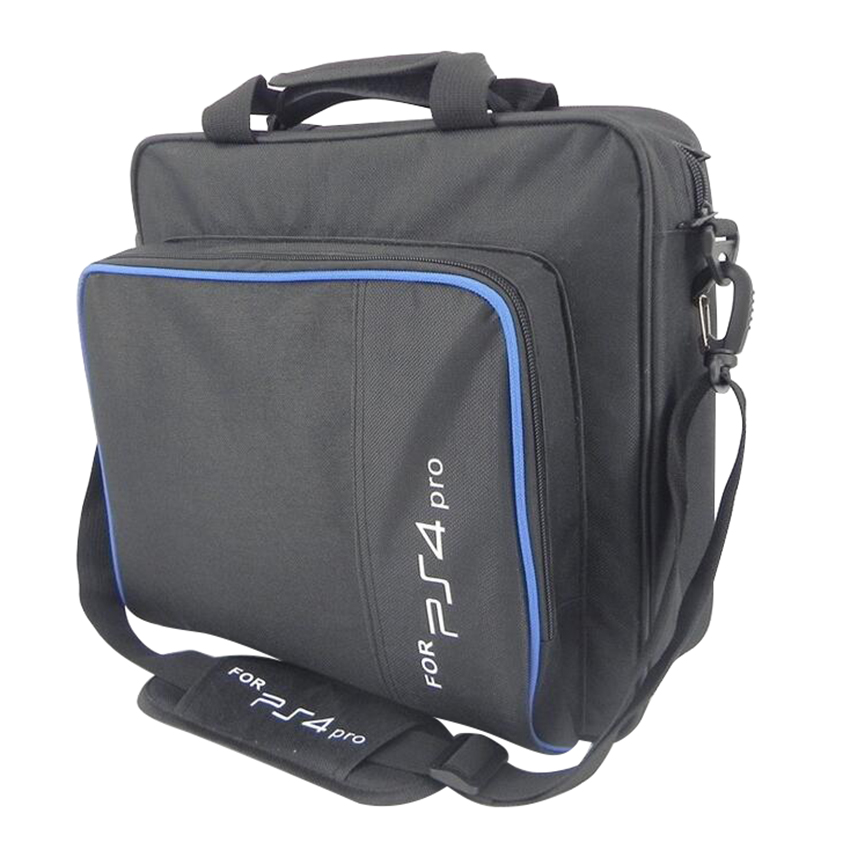 <font><b>PS4</b></font> / <font><b>PS4</b></font> Pro Game Sytem Bag Canvas <font><b>Case</b></font> Protect Shoulder Carry Bag Handbag For PlayStation 4 <font><b>PS4</b></font> Pro <font><b>Console</b></font> For image