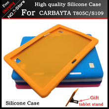 Soft silicone case for CARBAYTA T805C/S109 10.1 inch tablet pc ,10.1inch Kids Safe Shockproof Silicone cover For CARBAYTA+gift