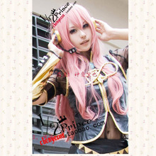VOCALOID Ruka 80cm Pink Wavy Long Synthetic Hair Cosplay Costume Wigs + Wig Cap цена 2017