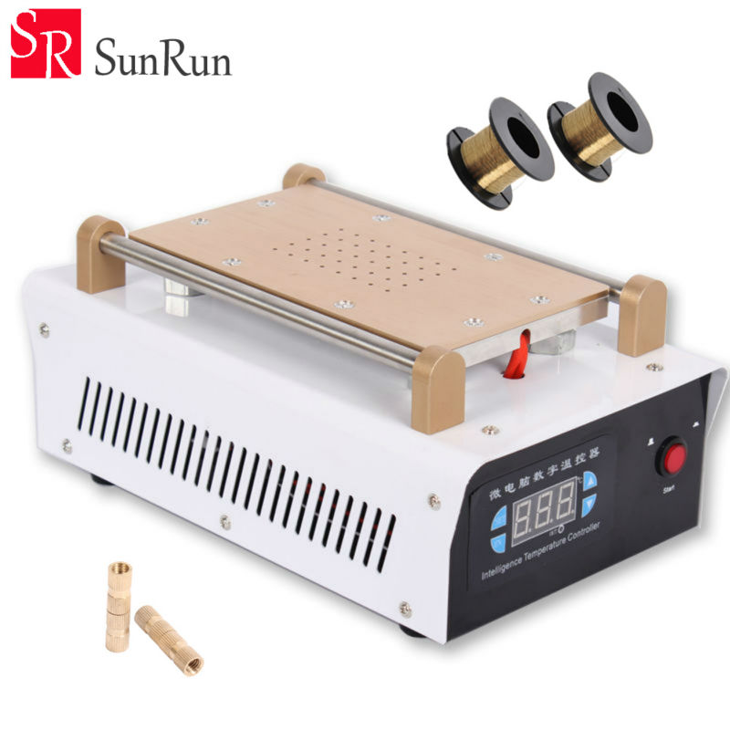 Newset Built in Vacuum Pump Mobile Phone LCD Touch Screen Separator Machine Max 7 Inch LCD Glass Repair + Free 100m Cutting Wire