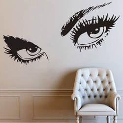 Ресницы магазин красоты наклейка на стену для девочек комната искусство настенные наклейки в комнату украшение салон красоты ресницы Обои