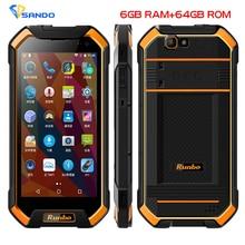 Оригинальный IP67 Runbo F1 плюс Водонепроницаемый смартфон 6 ГБ Оперативная память 64 ГБ Встроенная память Android 7.0 16 МП 5000 мАч Octa core NFC ГЛОНАСС 4 г LTE телефон