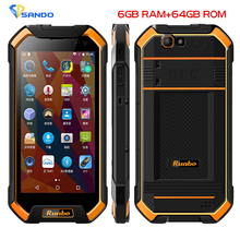 Original IP67 Runbo F1 Plus Waterproof Smartphone 6GB RAM 64GB ROM Android 7.0 16 MP 5000mAh Octa Core NFC Glonass 4G Lte Phone
