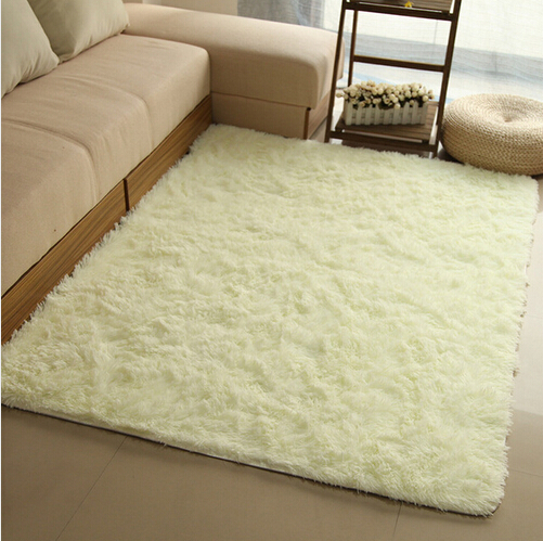 Thick Beige/Blue/Cream/Gray/Pink/Red 14 Colors Bedside Area Rug Super Fluffy Shaggy Floor Mat Machine Washable Carpet