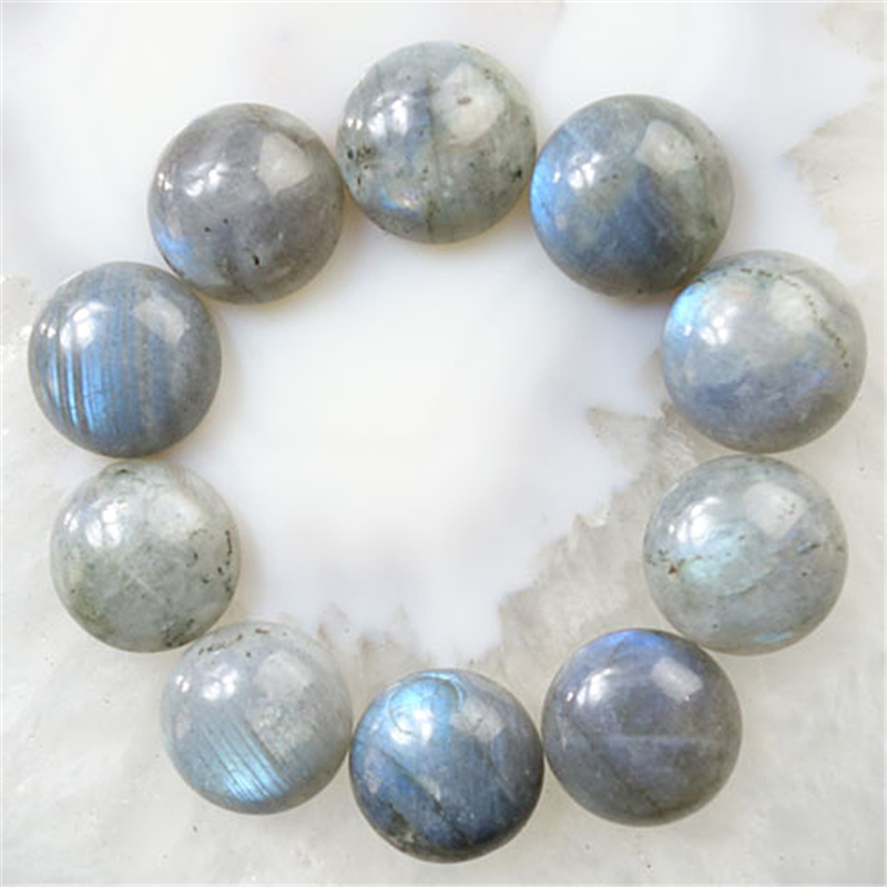 Free Shipping !!! 2017 New (12pieces/lot) Wholesale Natural Labradorite Round CAB CABOCHON 16x6mm Fashion Jewelry