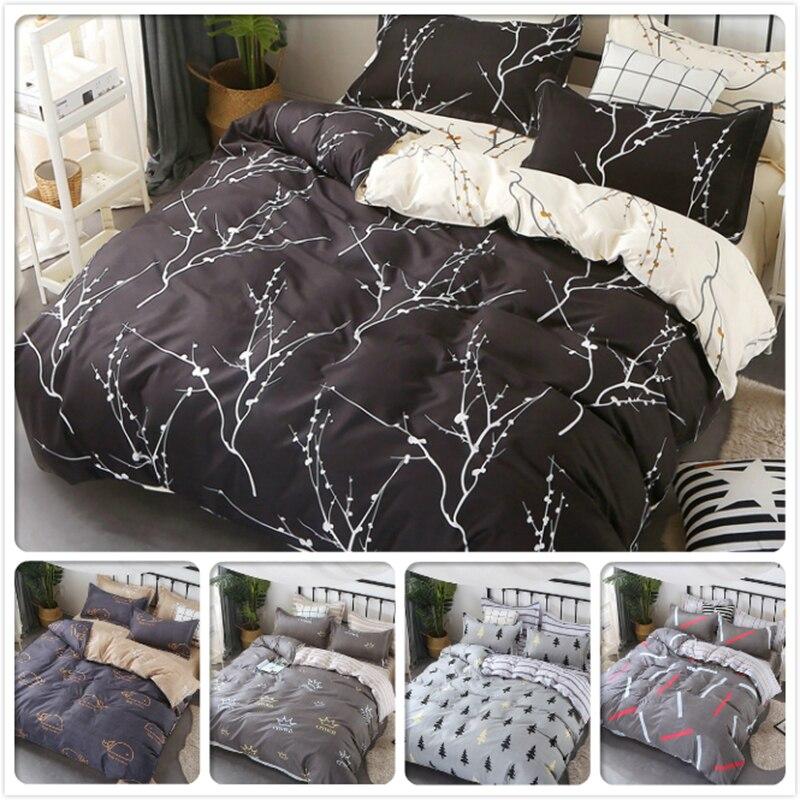 2018 New Fashion Cotton 3/4 pcs Bedding Set Full King Queen Double Single Size Duvet Cover 1.5m 1.8m 2m 2.2m Kid Child Bed Linen