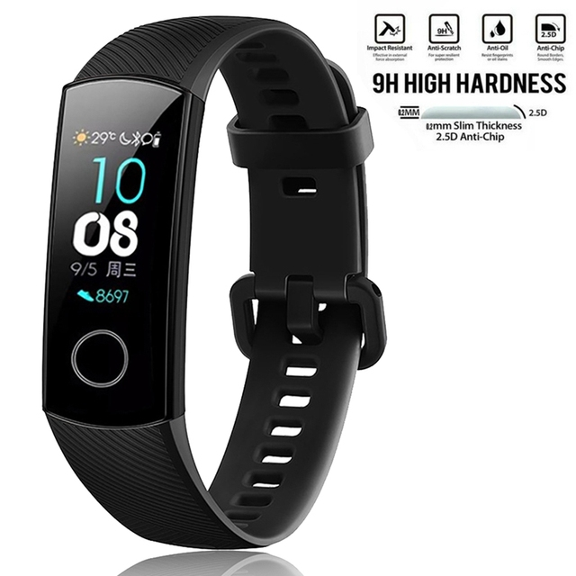 Silicone Wrist Strap For Huawei Honor Band 4 Smart Sport Bracelet Strap For Huawei Honor Band 5 Band4 Standard Version Film 1