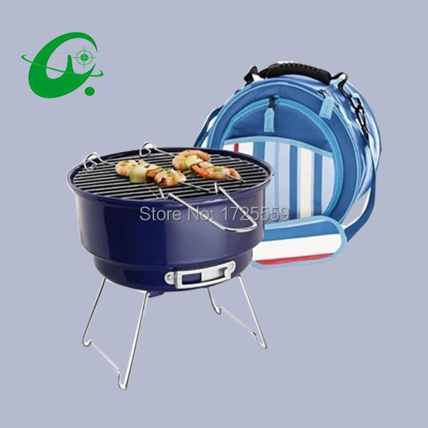 Ice packs outdoor charcoal grill,  Indoor/outdoor BBQ Grills Portable charcoal grill with bag for sale neje multifunctional portable bbq bakeware grill steam cleaner brush gray