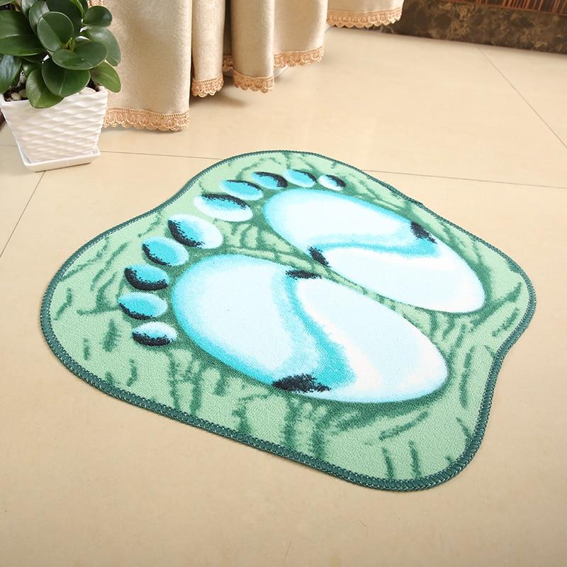 Paysota belle pieds carpet salle de bains porte tapis chambre vert ...