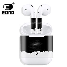 Pelindung Vinyl Scratch Proof Film Stiker Earphone untuk Apple AirPods Stiker Stiker Kulit Dekoratif Perekat(China)