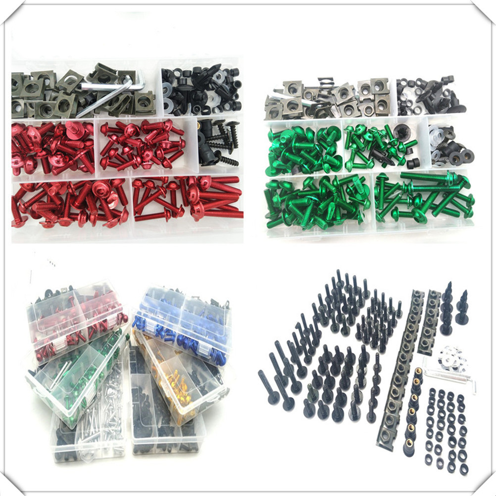 Motorcycle Fairing <font><b>Body</b></font> Bolts <font><b>Kit</b></font> Spire Screw Nuts set Clips for <font><b>YAMAHA</b></font> YZF 600R Thundercat R1 <font><b>R6</b></font> R25 R3 FZ1 FAZER FZS 1000S image