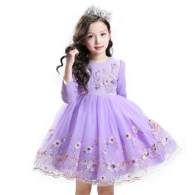 Winter Baby Girl Christening Gown Infant Princess Dress Birthday Outfits Children Kids Party Wear Dress Girl Formal Vestidoo 2018 baby infant newborn girl winter princess dress headband outwear 3pcs set new born 1 2 year birthday party tutu dress