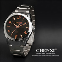 Classic Silver CHENXI Brand Stainless Steel Business Wristwatches Wrist Watch For Men Male Boy 021A High