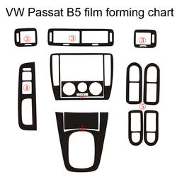 Per Volkswagen VW Passat B5 Interno Pannello di Controllo Centrale Maniglia Della Porta 3D/5D Adesivi In Fibra di Carbonio Decalcomanie Car styling accessorie