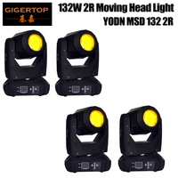 4 Pack 2R BEAM SHARPY MOVING HEAD Beam Angle 13.5 Degree Variable Electronic Dimmer/High Speed Strobe for Party KTV Pub Bar