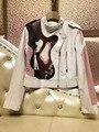Арлин саин новый женщины Ранняя осень 2016 новая мечта геометрия цвет рук шить небольшой белый мех бесплатная доставка