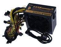 Лидер продаж шахтеров Питание вентилятор 1600 Вт 6 GPU Выход включая SATA Порты и разъёмы 4 P 6 P 8 P 24 P разъемы Применение для RX470 RX480 RX570