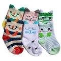 2Pairs/Lot Soft Cute Cat Cartoon baby socks baby boys girls Toddler's socks Infant Kids meia infantil calcetines de ninos meias