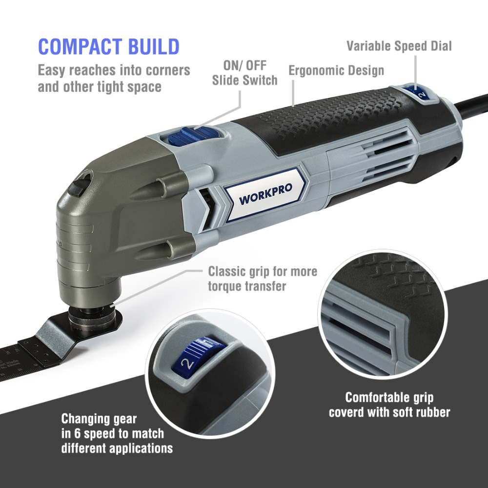 Image 4 - WORKPRO Oscillating Tool 220V Electric Trimmer Saw for Wood Working 300W Power Home DIY Wood Trimmer  Multi Tool-in Oscillating Multi-Tools from Tools on
