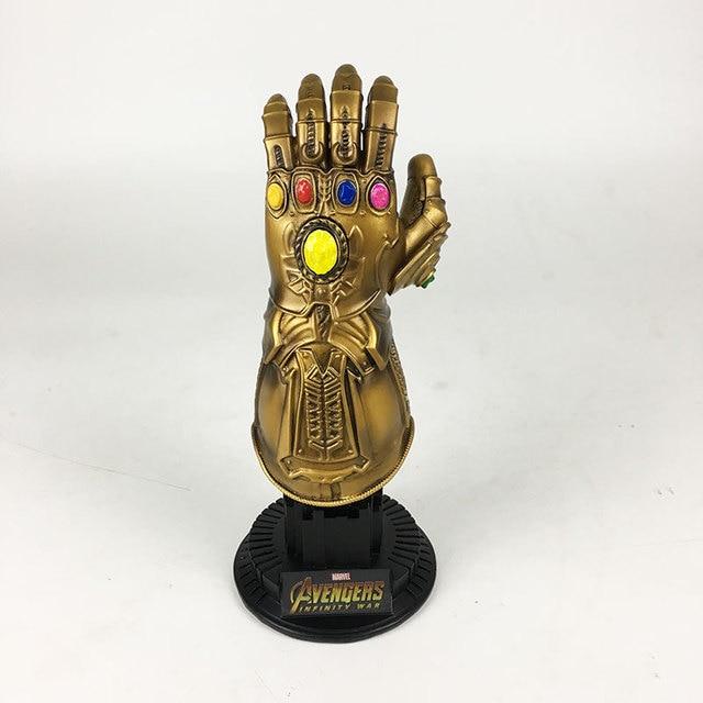 1 pcs Infinity Gauntlet Thanos Infinito Guerra Figuras de Ação Toy Cosplay de Super-heróis Vingadores Homem De Ferro Anime Thanos Luva Halloween