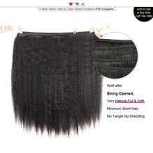 Ishow Кудрявый Прямо Плетение Бразильских Волос Плетение Грубые Яки Пучки Человеческих Волос Яки