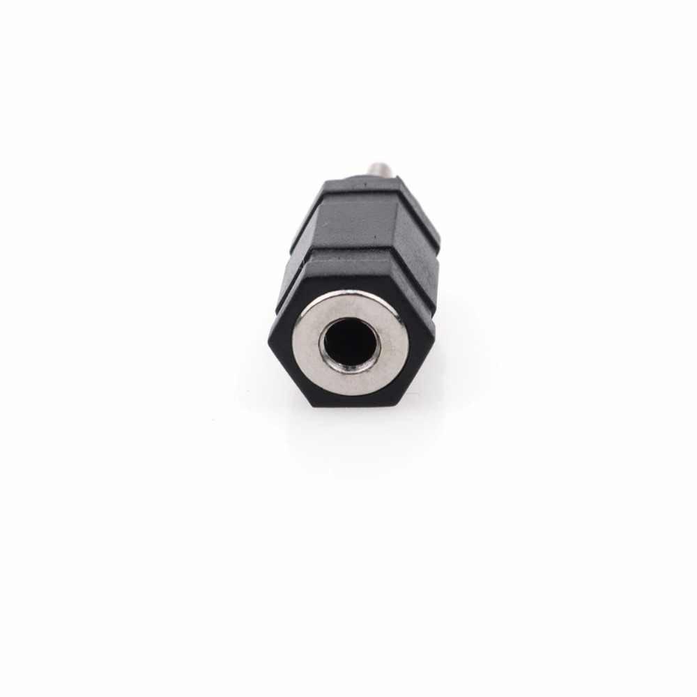 Decyzja wspólnego komitetu eog, czarna, 2.5mm mężczyzna do 3.5mm kobieta Audio słuchawki stereo adapter gniazda jack wtyczki do telefonów słuchawki 3.5 kobieta do 2.5mm męski