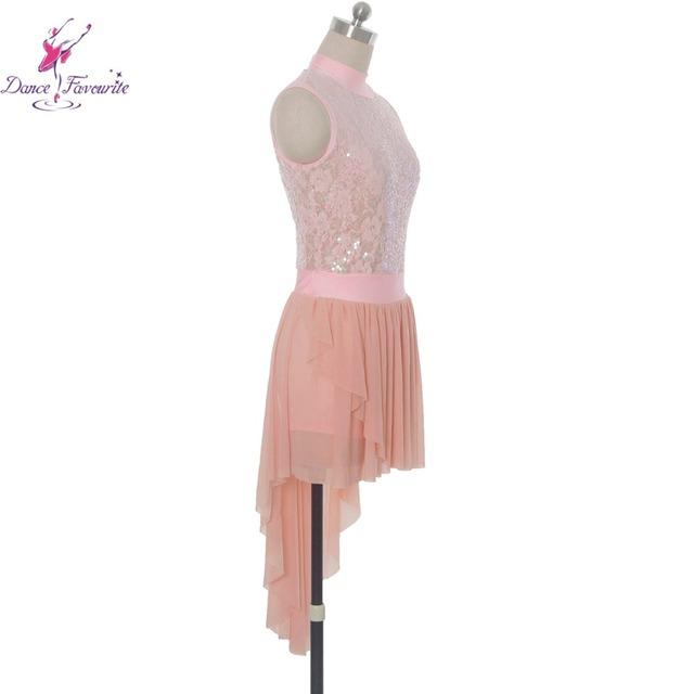 ef5118c8e Stunning pink sequin lace bodice ballet Lyrical dance costumes dress women  stage ballet dress girl dance ...