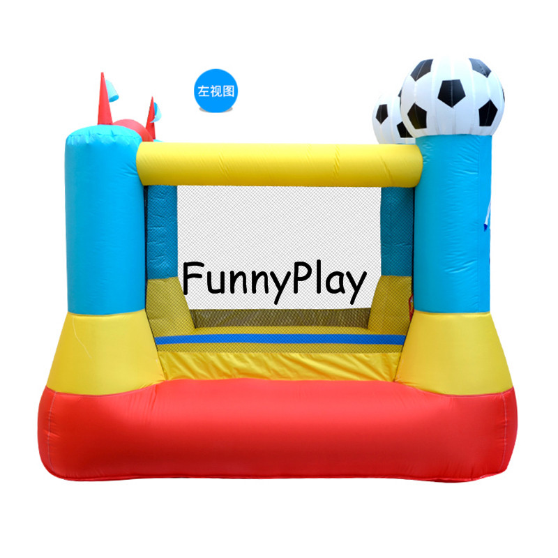 football Nylon Mini bouncer house indoor Jumping House Bouncy Castle Game With Air blower for Kids jumping castle