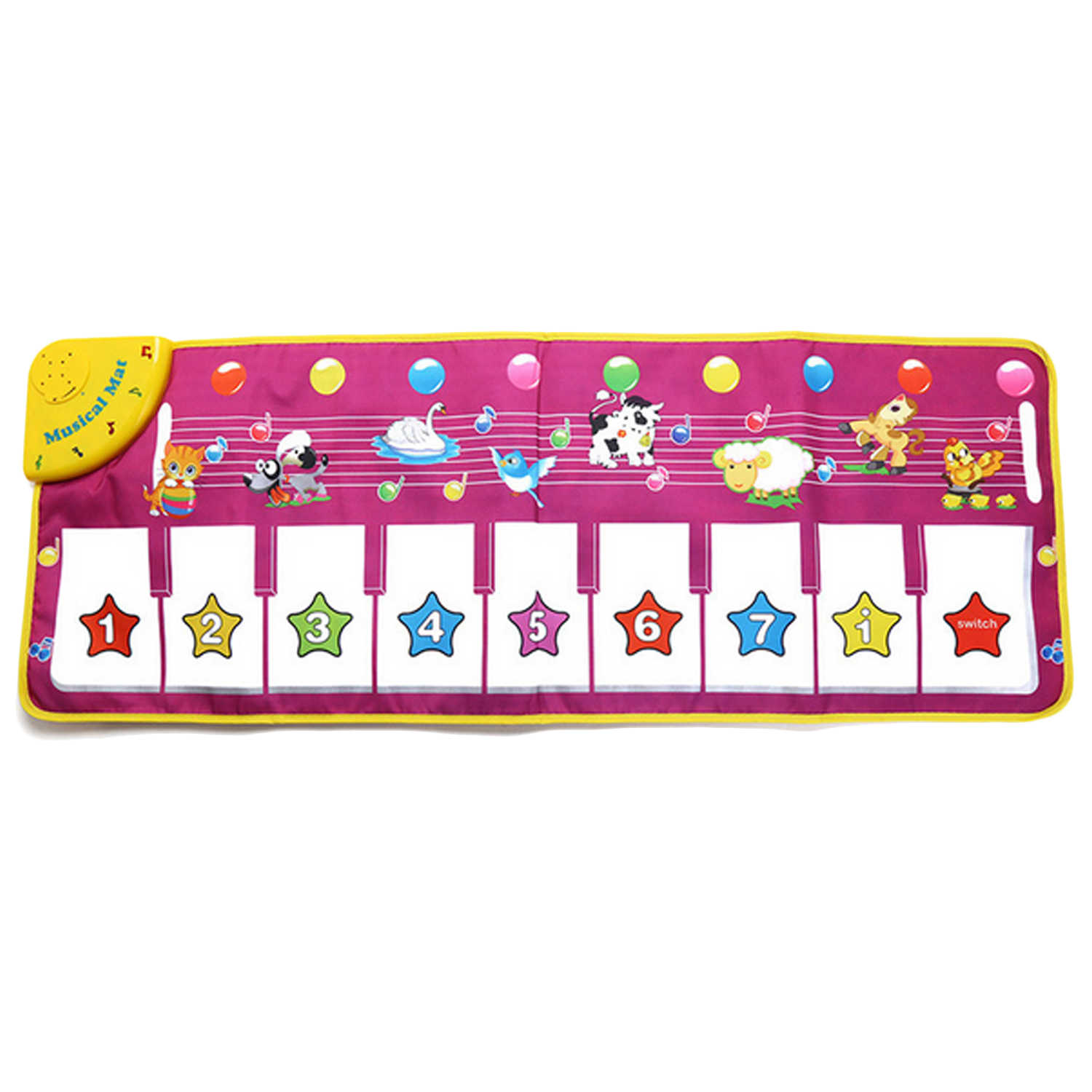 Cartoon Funny Music Musical Piano Keyboard Instrument Animal Sound Carpet  Mat Crawling Playmat Kid Children Baby Educational Toy