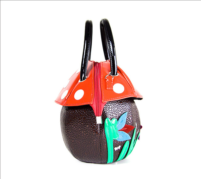 mushroom Fun personalized fashion laser shell shape chain shoulder bag purse girls women crossbody handbag messenger bag flap