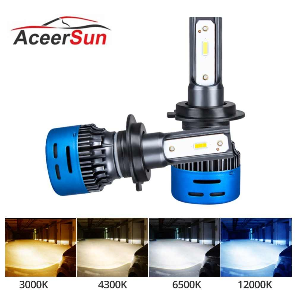 Aceersun 2PCS H7 LED H4 LED H11 Car Headlight Bulb 9600LM H1 9005 9006 40W 6500K 3000K 4300K 12000K 12V 24V Auto HB3 HB4 Led K3