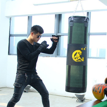 80cm sandbag  Men and women  Training Fitness  Bag Hook Hanging Kick Fight Bag Sand Punch Punching Bag Sandbag free shipping