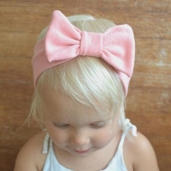 Baby Girls Bunny Bows Kids Turban Noeud Lapin Bandeau cheveux bande Head Wrap LOTS