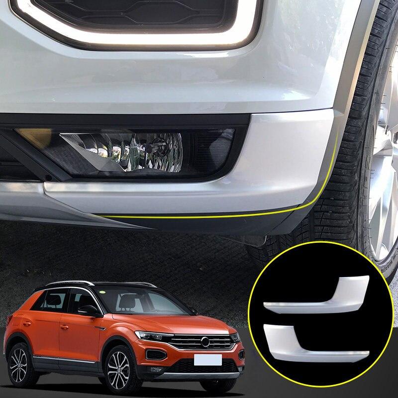 Pour Volkswagen t-roc 2017 2018 accessoires de voiture extérieur mat voiture avant inférieur pare-chocs coin protecteur garde couverture 2 *