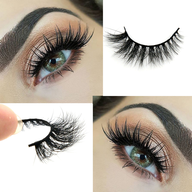 Lilly Miami 3D Full Strip Lashes 100% Real Siberian Mink Strip Eyelashes 3D Mink False Eyelashes Arison LashesD015 Free Shipping