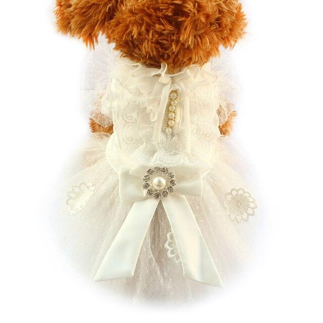 Armi shop Weiß Spitze Blumen Hochzeit Hunde Kleider Mode Kleid Für ...