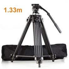 High Quality Professional Aluminum Alloy EI717 1.33m 4'4″ Video Camera Tripod Fluid Pan Head Portable Camera Tripod Hot Selling
