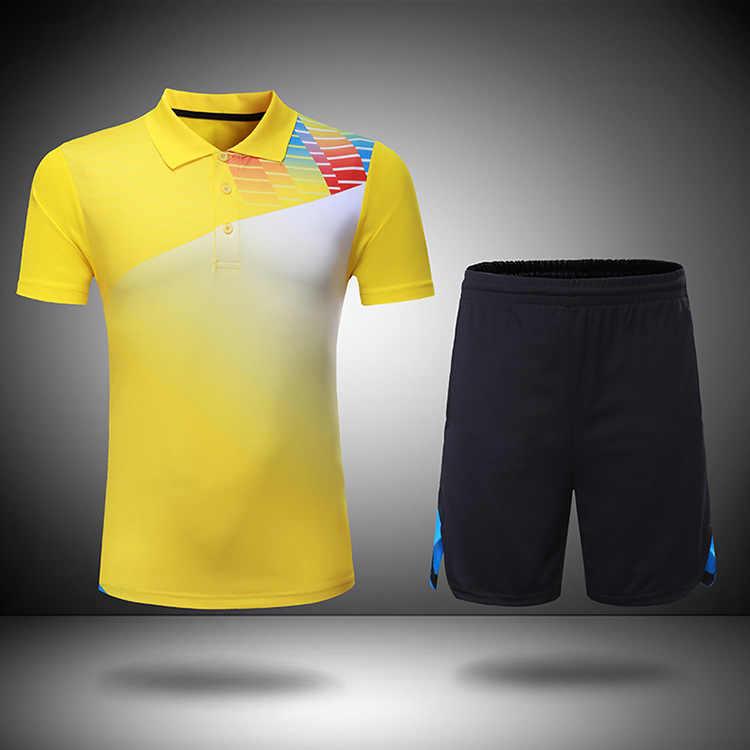 جديد ريال الرجال الريشة ملابس رياضية تي شيرت الملابس ، البوليستر التجفيف السريع تنس طاولة الرياضة السراويل ، تنس قميص جيرسي ، الرجال دعوى