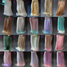 1pcs 15cm&25cm*100cm Doll Wigs for 1/3 1/4 1/6 BJD doll SD DIY Roll inward wigs Many colors