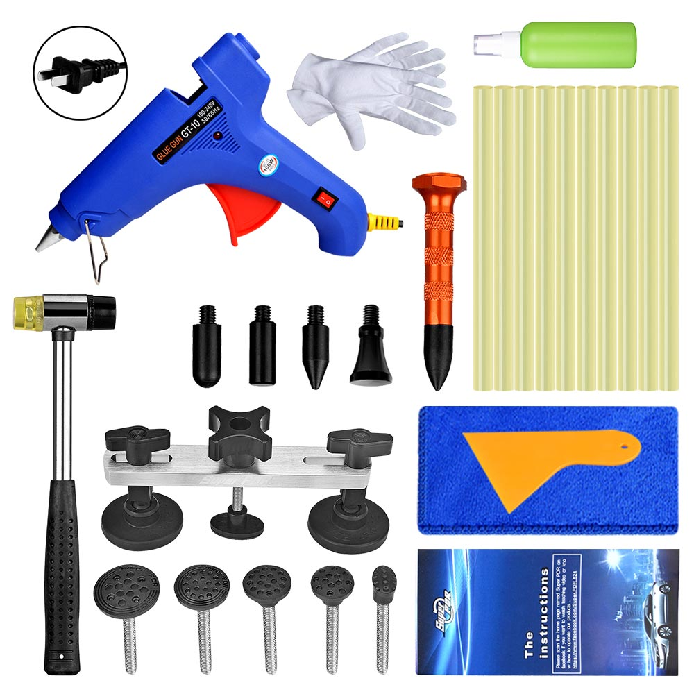 Best Super PDR Tools Kit For Car Paintless Dent Removal Tools Hot Melt Glue Gun For Hot Adhesive Glue Sticks Car Dent Puller Kit