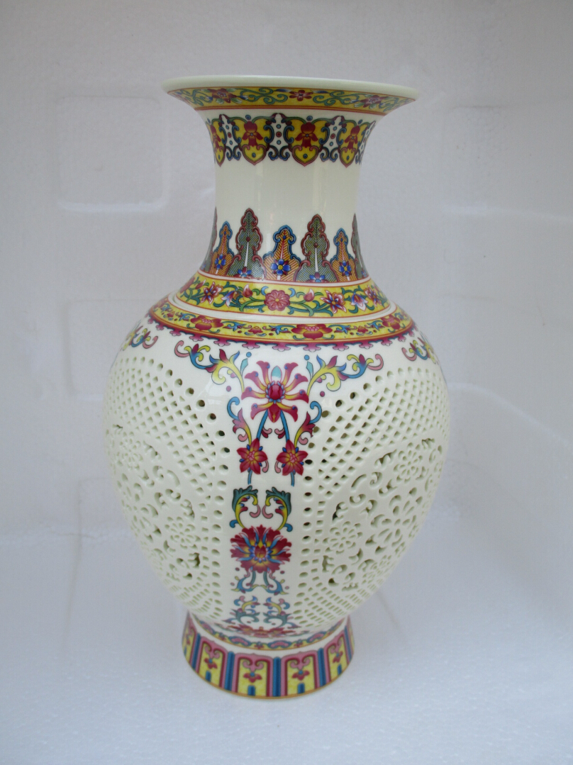 H115 inch chinese antique openwork porcelain vaseclassic color h115 inch chinese antique openwork porcelain vaseclassic color ceramic vases double layer vase in vases from home garden on aliexpress alibaba reviewsmspy