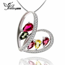 Coronary heart Sri Lanka Natual Tourmaline Gemstone Pendant Actual Stable 925 Sterling Silver Greatest Reward For Buddy imply ardour and love