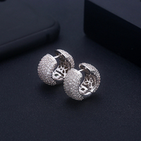 ACCKING Square shape Zircons Fashion Design Earring for Women Fashion Brand Jewelry Part gift