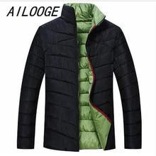 AILOOGE Brand 2017 Clothing Winter Jacket Men Super Big Size Fat Warm Coat 6XL 7XL 8XL Plus Size Thin Jacket Parkas Hombre