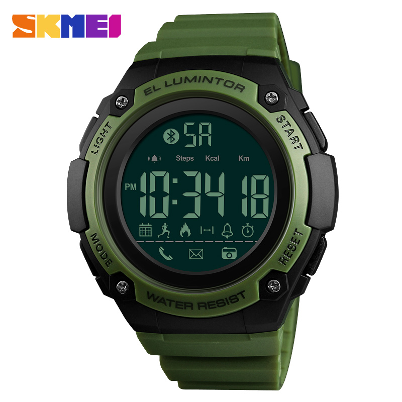Skmei Men Digital Watch Sport Military Fashion Waterpoof Watches Bluetooth Call Reminder Top Brand Luxury For Male Man Clock