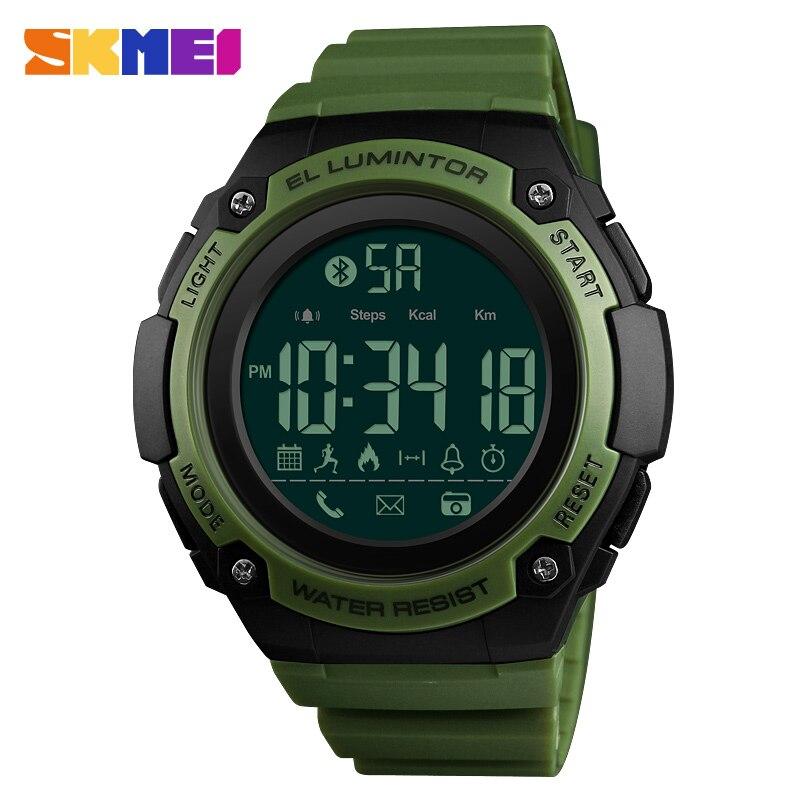 Skmei, reloj Digital de Deporte Militar de moda impermeable relojes Bluetooth llamada de recordatorio de marca de lujo para hombre reloj hombre