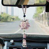 Car pendant car accessories high end lady lovely rearview mirror Ping An car crystal pendant